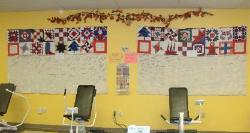 breast cancer quilt at Curves