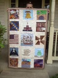 thirteen colonies quilt