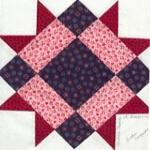 california usa quilt block