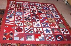 nifty fifty breast cancer charity quilt