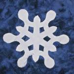 south dakota snowflake quilt block