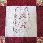 alabama redwork quilt block
