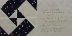 alaska quilt block in remembrance of 9/11