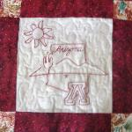 arizona redwork quilt block