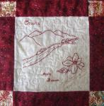arkansas redwork quilt block