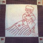 betsy ross and american flag quilt block