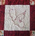 california redwork quilt block