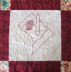 washington dc redwork quilt block