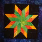 delaware state quilt block from carol doak's star pattern