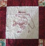 florida redwork quilt block