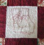georgia redwork quilt block