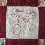hawaii redwork quilt block