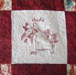 idaho redwork quilt block