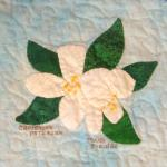 idaho syringa flower quilt block