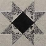 indiana black and white quilt block