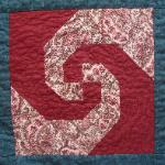 Indiana snail's trail state quilt block