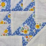 indiana 1930's reproduction fabric basket quilt block