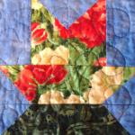 Indiana state flower quilt block