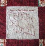 kansas redwork quilt block