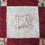 kentucky redwork quilt block