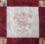louisiana redwork quilt block