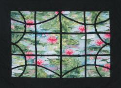 lily pads quilt wallhanging
