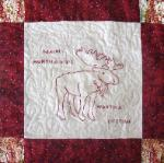 maine redwork quilt block