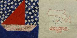 massachusetts september 11, 2001 quilt block
