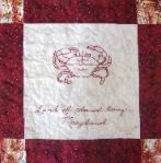 maryland redwork quilt block