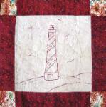 north carolina redwork quilt block
