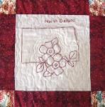 north dakota redwork quilt block