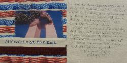 new york 9/11 quilt block