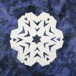 california snowflake quilt block