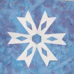 north carolina snowflake quilt block