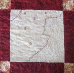 new hampshire redwork quilt block