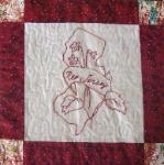 new jersey redwork quilt block