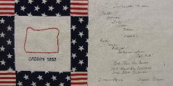 oregon 9/11 quilt block