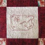 pennsylvania redwork quilt block