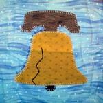 liberty bell thirteen colonies pennyslvania quilt block