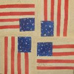 usa flag quilt block