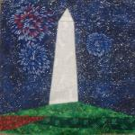 washington monument DC quilt block