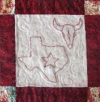 texas redwork quilt block