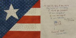 usa september 11, 2001 quilt block